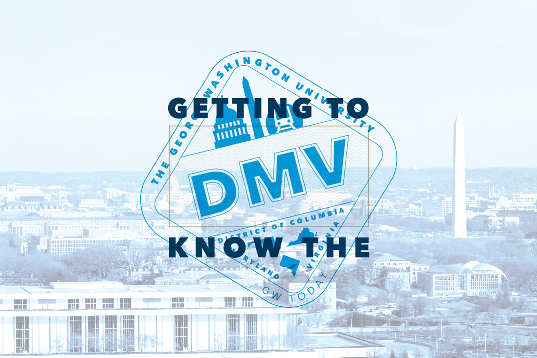 Getting to Know the DMV graphic with passport-like stamp