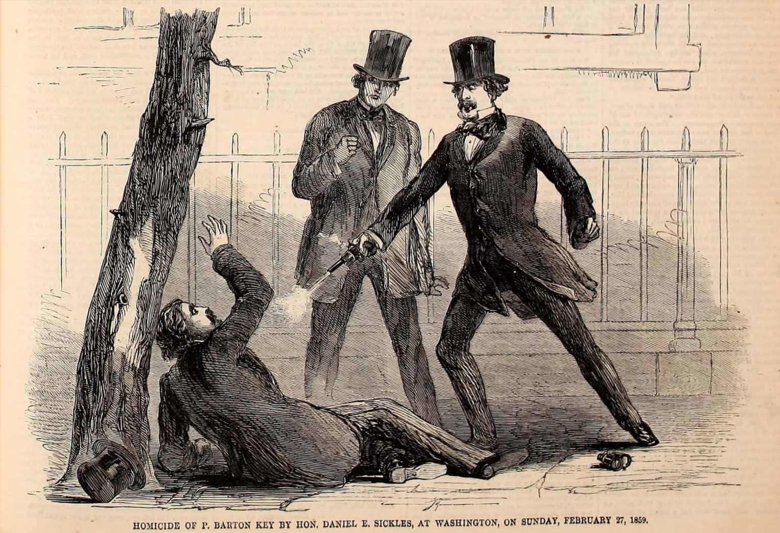 contemporary illustration of murder, Harpers Weekly
