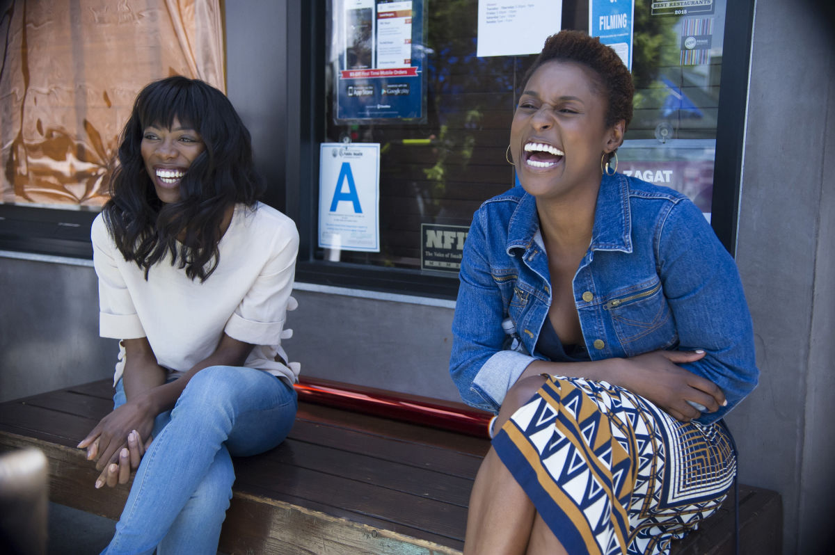 Ms. Orji (left) with Insecure co-star Issa Rae
