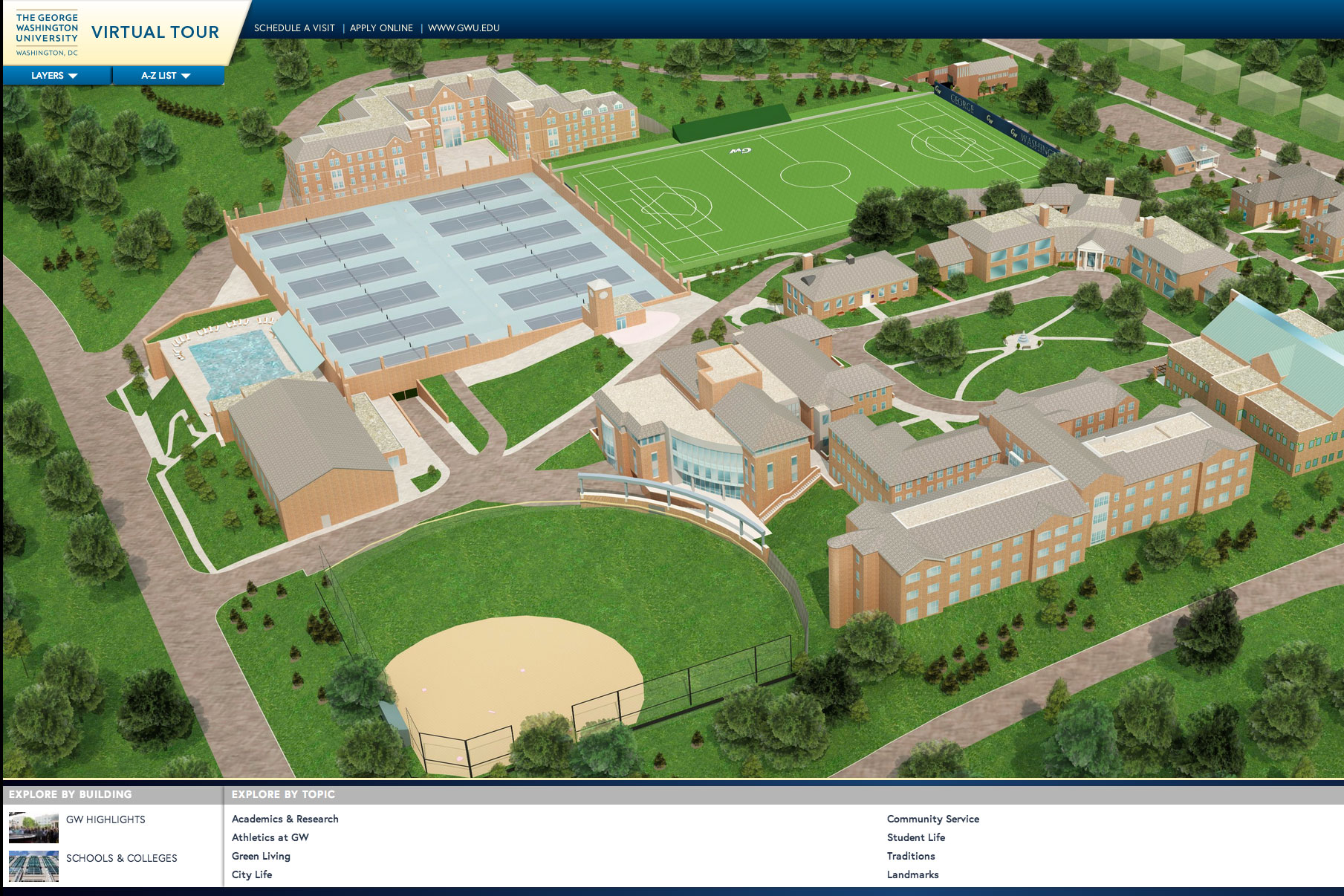 Gwu Mount Vernon Campus Map.Explore Campus And D C With The Gw Virtual Tour Gw Today The