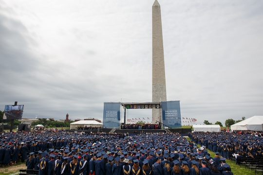 Crowd Shot of GW Commencement 2017 on the National Mall