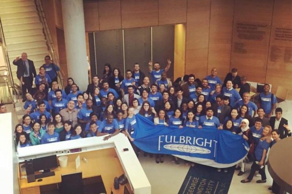 Scholars at the Fulbright Enrichment Seminar. (Photo: Tess Cannon)