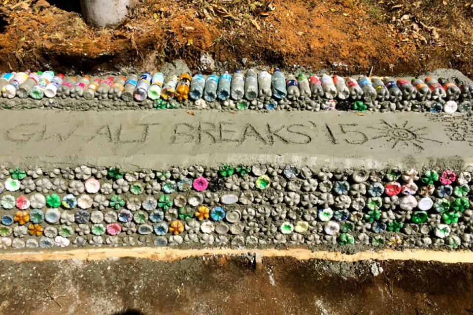 Sustainable Engineering: One Eco-Brick at a Time | GW Today | The George Washington University ...