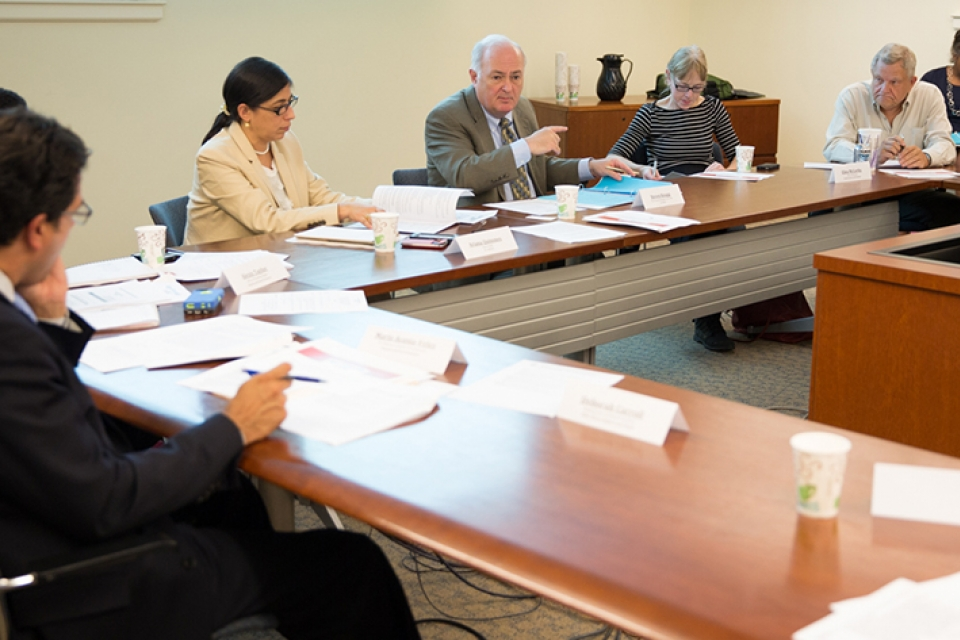 President  Knapp meets with members of the Age-Friendly D.C. Task Force on July 31.