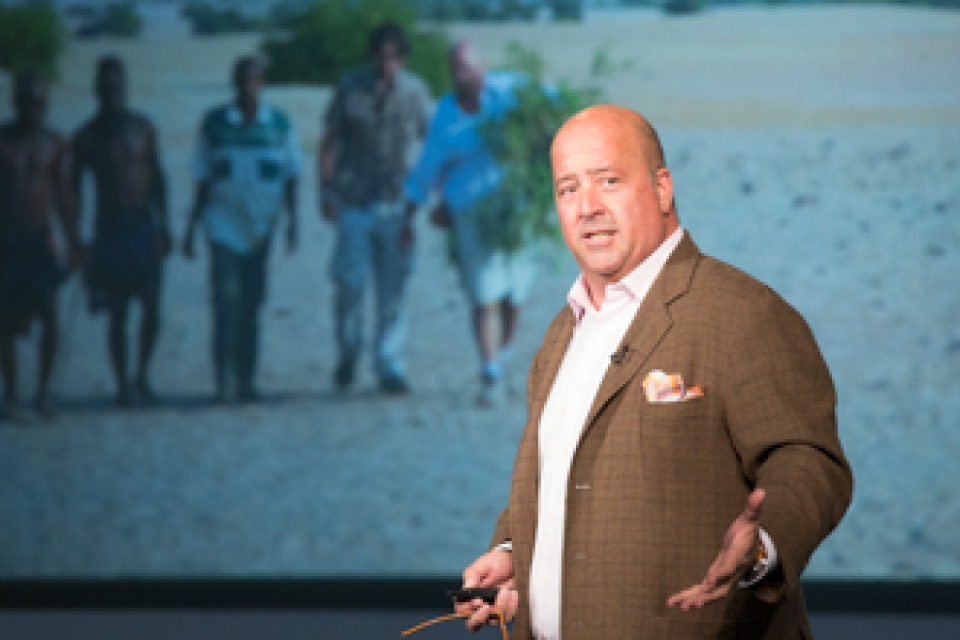 "Andrew Zimmern, host of Travel Channel's ""Bizarre Foods"""
