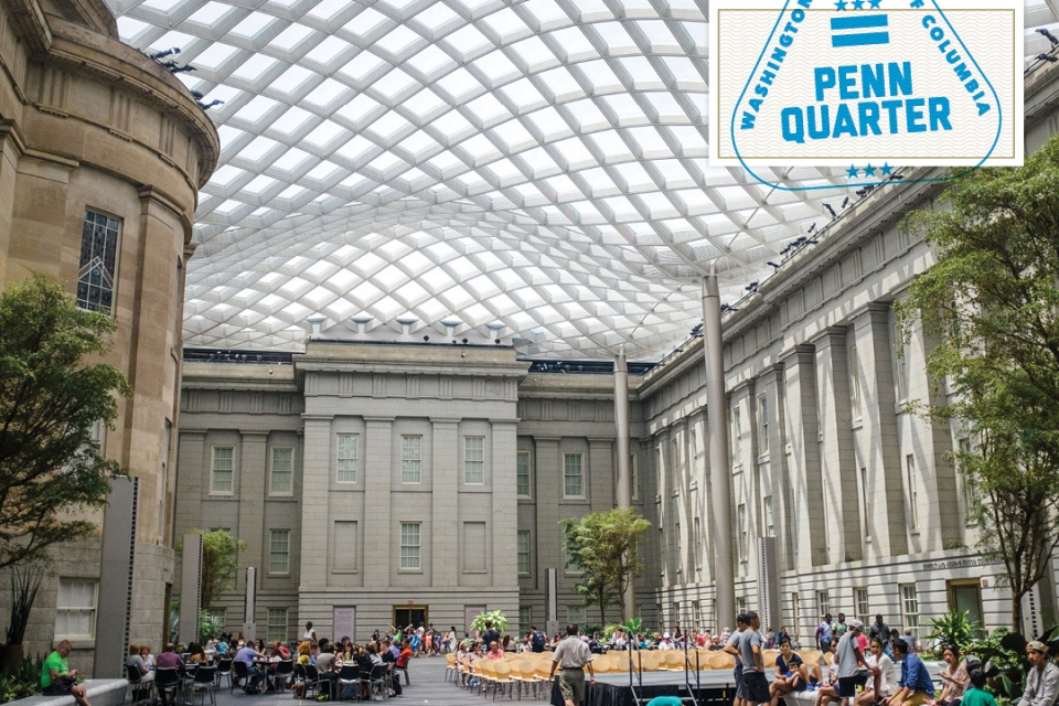Getting to Know the DMV: Penn Quarter (image of the National Portrait Gallery)