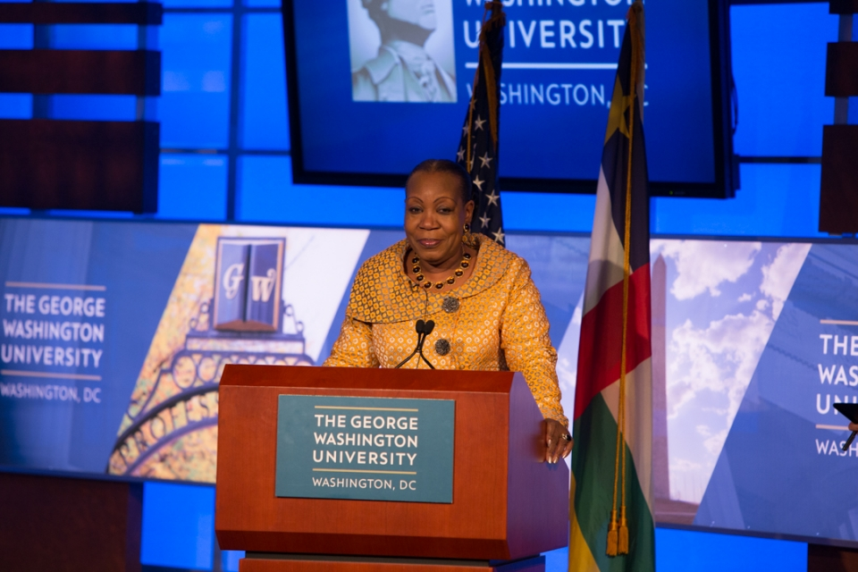 Catherine Samba-Panza, interim president of Central African Republic.