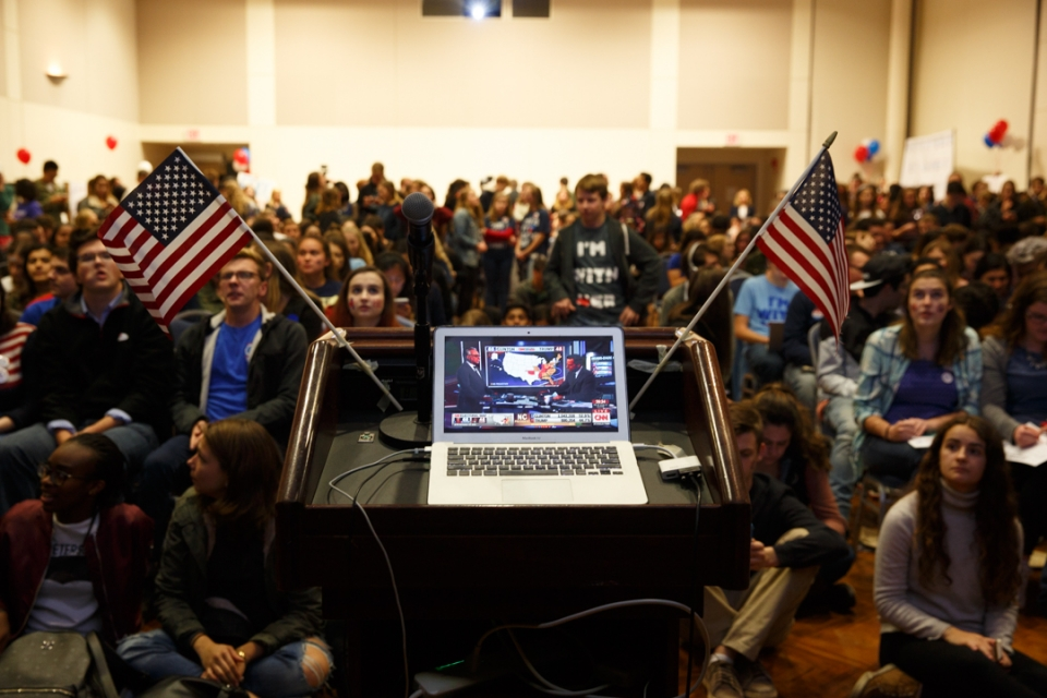 Image of College Democrats watch party