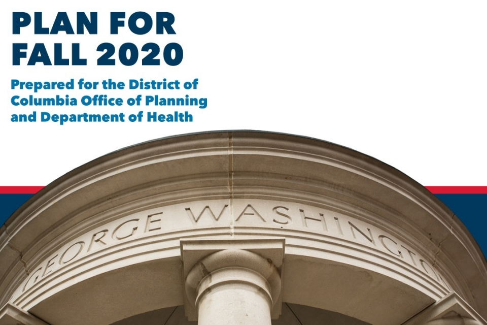 GW Plan for Fall 2020 Submitted to the District of Columbia Office of Planning and Department of Health