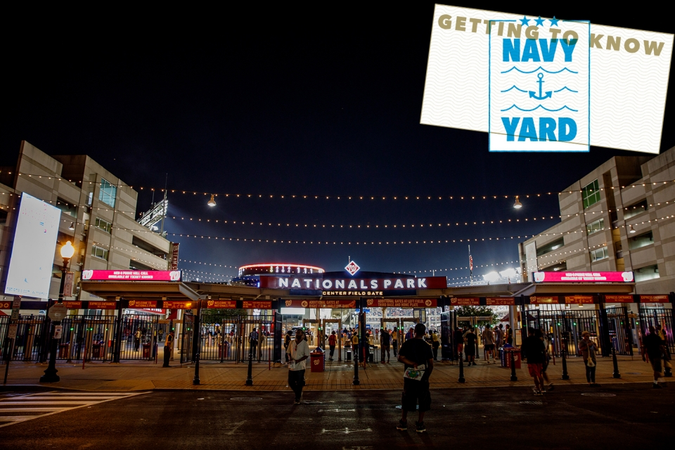 Nationals Park, home of the Washington Nationals, is one of Navy Yard's centerpiece attractions. (William Atkins/GW Today)