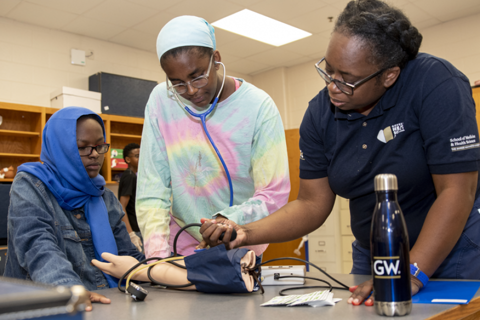 Students at the Virginia Governor's Health Academy.