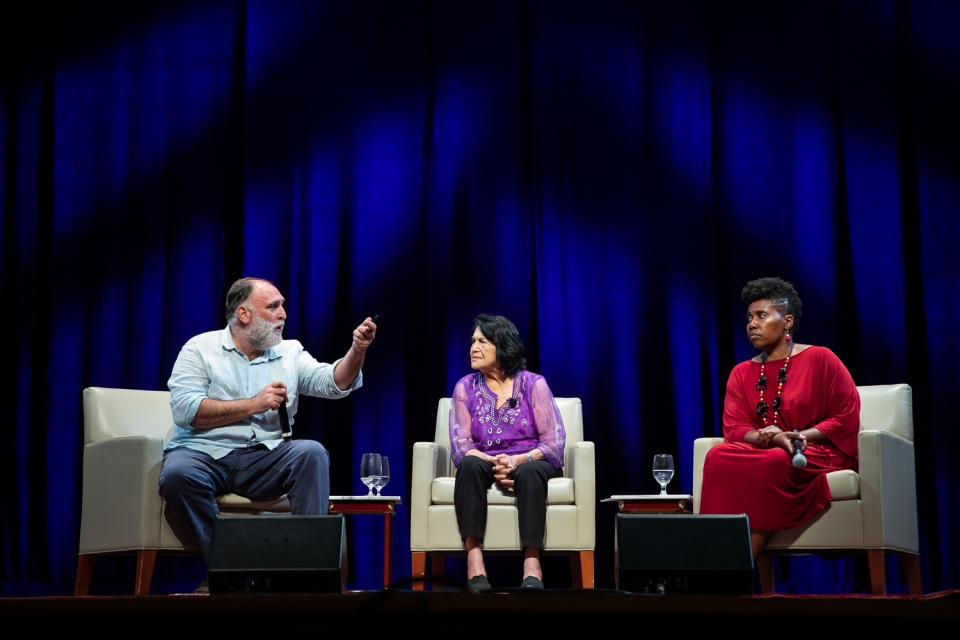 Jose Andres, Dolores Huerta and Imani Cheers