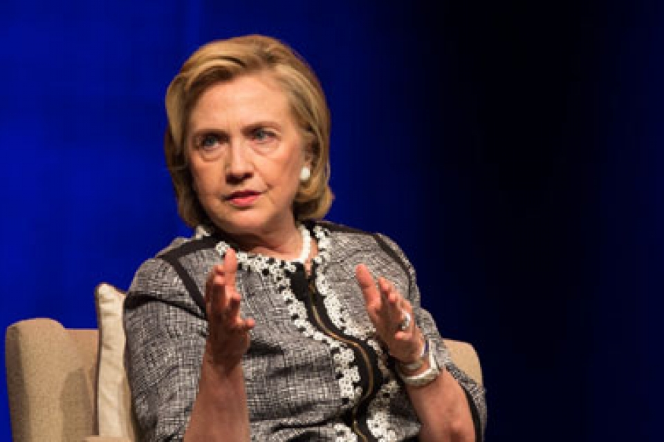 "Hillary Rodham Clinton visited Lisner Auditorium to discuss her new memoir, ""Hard Choices."""