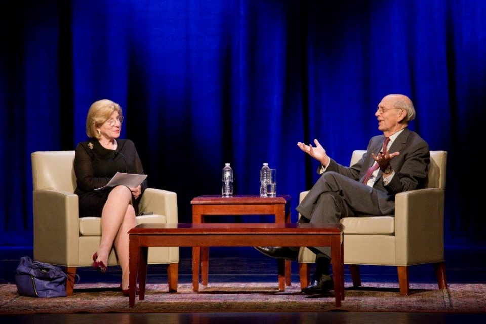 Image of Nina Totenberg and Stephen Breyer