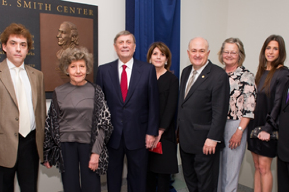 Steven Knapp celebrates refurbished Smith Center with donors and members of the university community