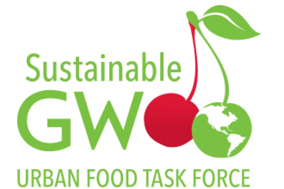 Sustainable GW: Urban Food Task Force with graphical representation of cherry and globe