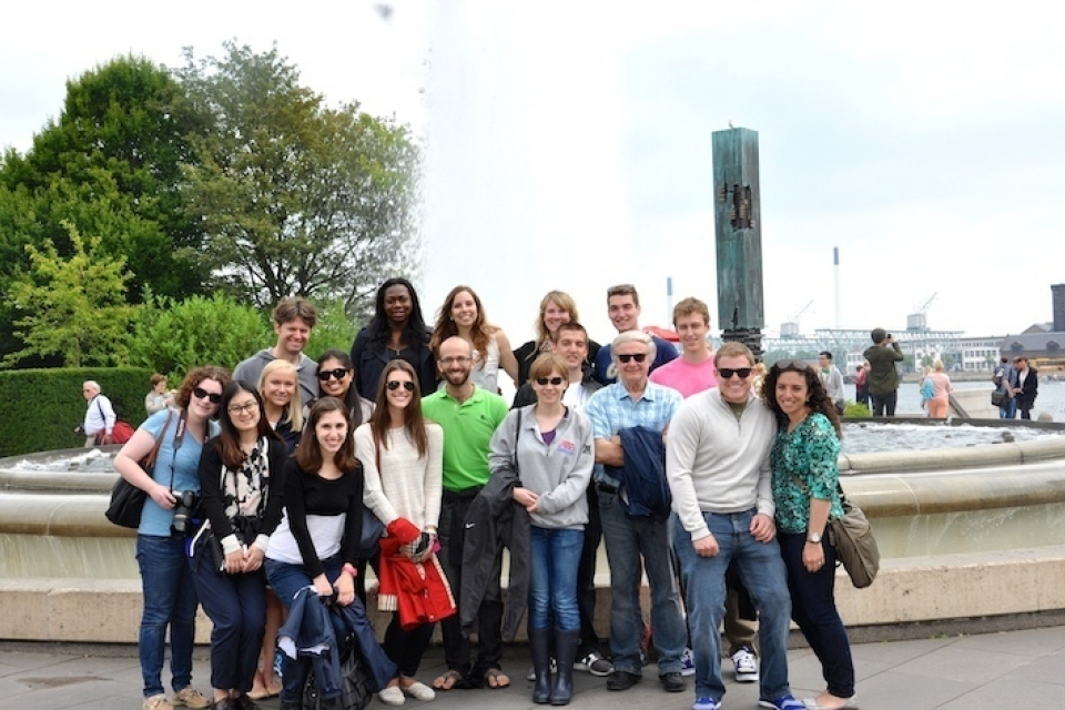 """Students in the Columbian College's """"Communication, Decision-Making, and Innovation: The Special Case of Denmark"""" course explore"""