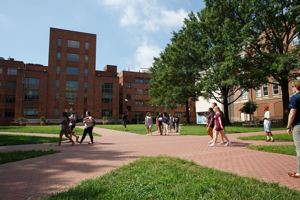 Students on University Yard