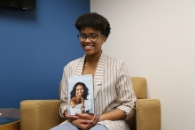 "GW junior Alexes Harris attended the Michelle Obama event promoting her book, ""Becoming."" (Briahnna Brown/GW Today)"