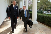 Then-Vice President Biden is seen with SMHS's Kevin O'Connor, who was named physician to the president.