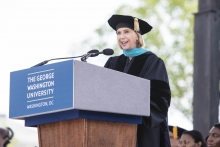 """National Academy of Sciences President Marcia McNutt spoke on hope as the """"antidote"""" to the """"epidemic of despair."""""""