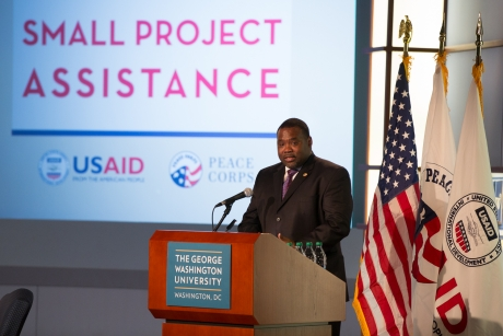 Associate Director of the Peace Corps Office of Strategic Partnerships Corey Griffin served as Master of Ceremonies