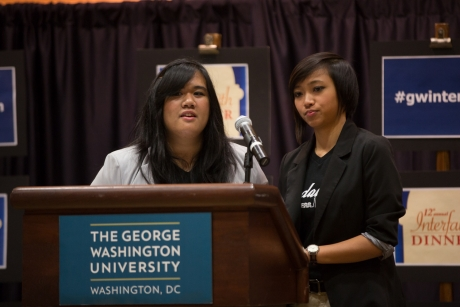 Members of the George Washington University Philippine Cultural Society