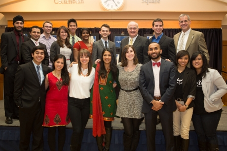 Student organizations representing the university's diverse religious community gathered       for the Interfaith Dinner