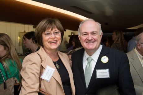 President Steven Knapp and Dean of the School of Nursing Jean Johnson