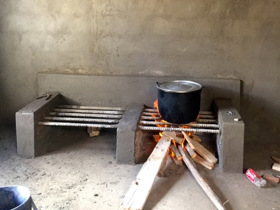 The new communal stove in Panecillo, Ecuador. (Photo courtesy Sara Durrani)