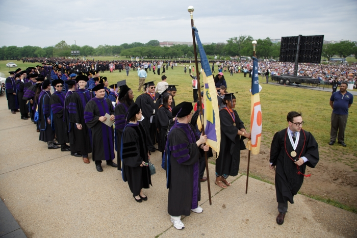 GW Commencement on The Mall 2015