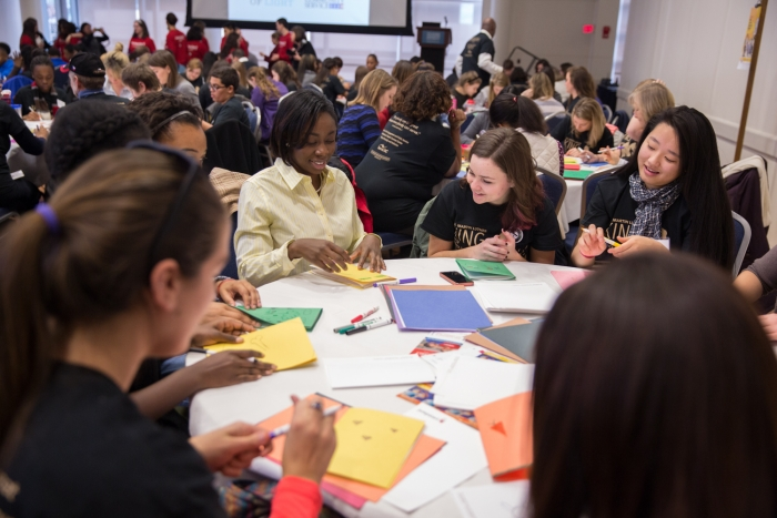 In collaboration with Jumpstart DC, volunteers assembled literacy kids for preschool-age children.