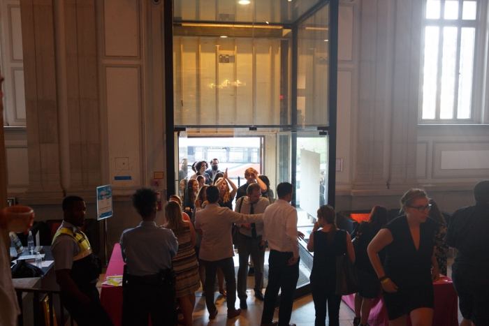 NEXT opening reception crowd