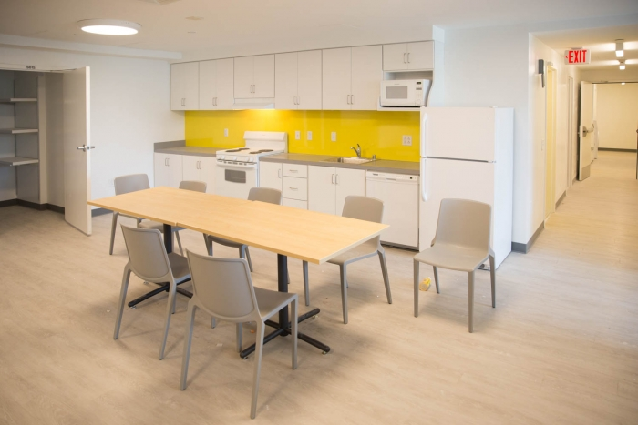 dining table in kitchen area
