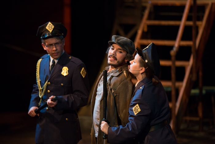 In Urinetown, a person can be arrested for opening the public amenities for everyone.