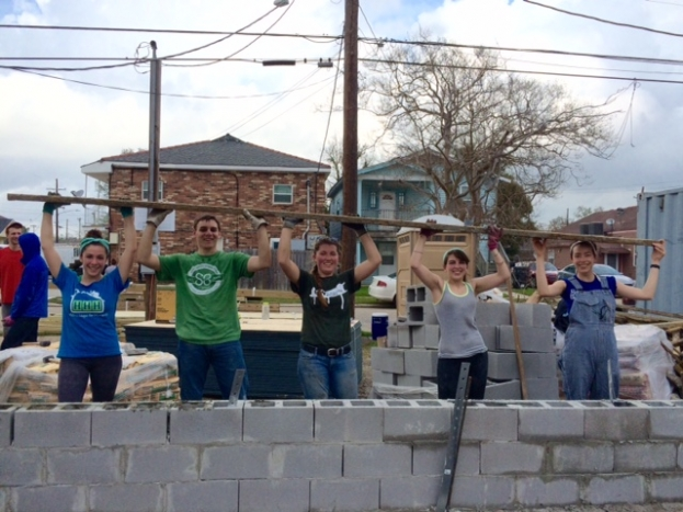 Students in New Orleans worked to help rebuild storm-ravaged communities. (Photo courtesy Jordan Coggins.)