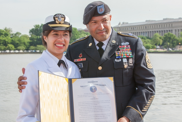 GW Naval ROTC Commissioning Day