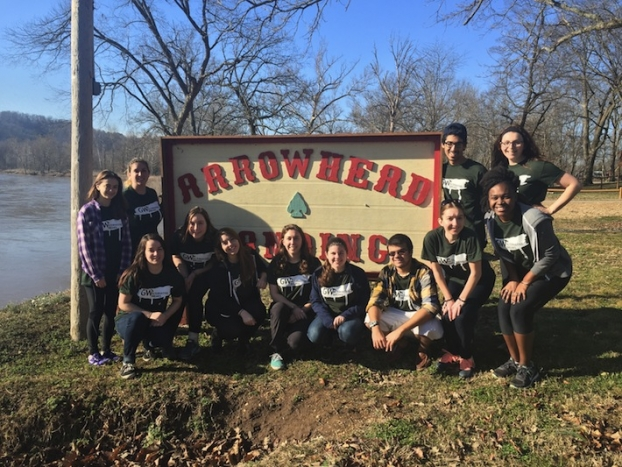 In Talequah, Okla., students worked with the Cherokee Nation on cultural and ed (Photo courtesy Julie Charpentier, Liviya David)