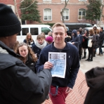 Students received tickets to see the live taping.