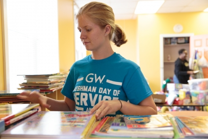 Freshman Day of Service highlight video