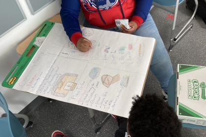 Students at Eliot-Hine worked on a community mapping project as part of SummerTrek Civic Changemakers.