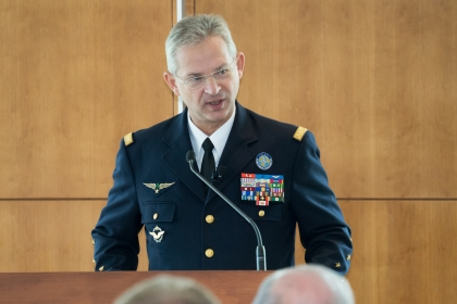 NATO Supreme Allied Commander for Transformation Denis Mercier spoke Monday at the Elliott School. (Elliott School for Internati