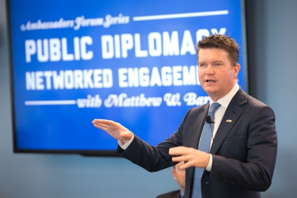 Matthew Barzun. (Oxana Minchenko for Elliott School of International Affairs)