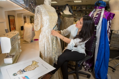 Graduate student Basmah Alomar has designed costumes for GW as well as for professional theaters in D.C.