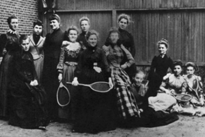 The first women admitted to Columbian (now George Washington) University's Columbian College in 1889.