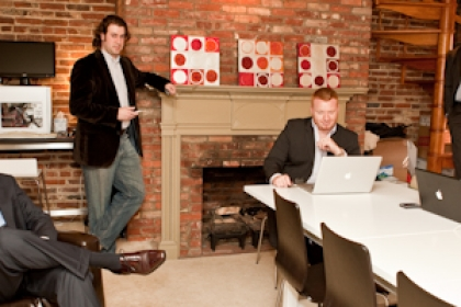 four CRAFT founders in office space