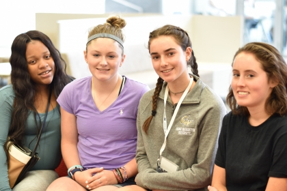 High school students Pierra Hester, Jacqui Hayes, Emily Makedon and Laura Biggs were students in Jason Zara's pre-college biomed