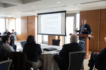 Attorney Mark Holloway spoke at the day-long workshop.