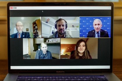 Screen capture of the virtual address led by Dr. Anthony Fauci