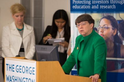 GW Global Center on Financial Literacy_ U.S. Securities Exchange Chaire Mary Jo White